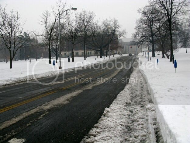 Trinity Street in downtown has been plowed several times. Meanwhile, residents in the neighborhoods are still waiting for one plow. 