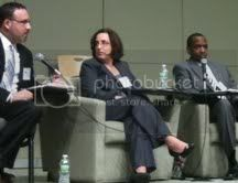 Miguel Cardona, Susan Marks, and Gary Highsmith (left to right)